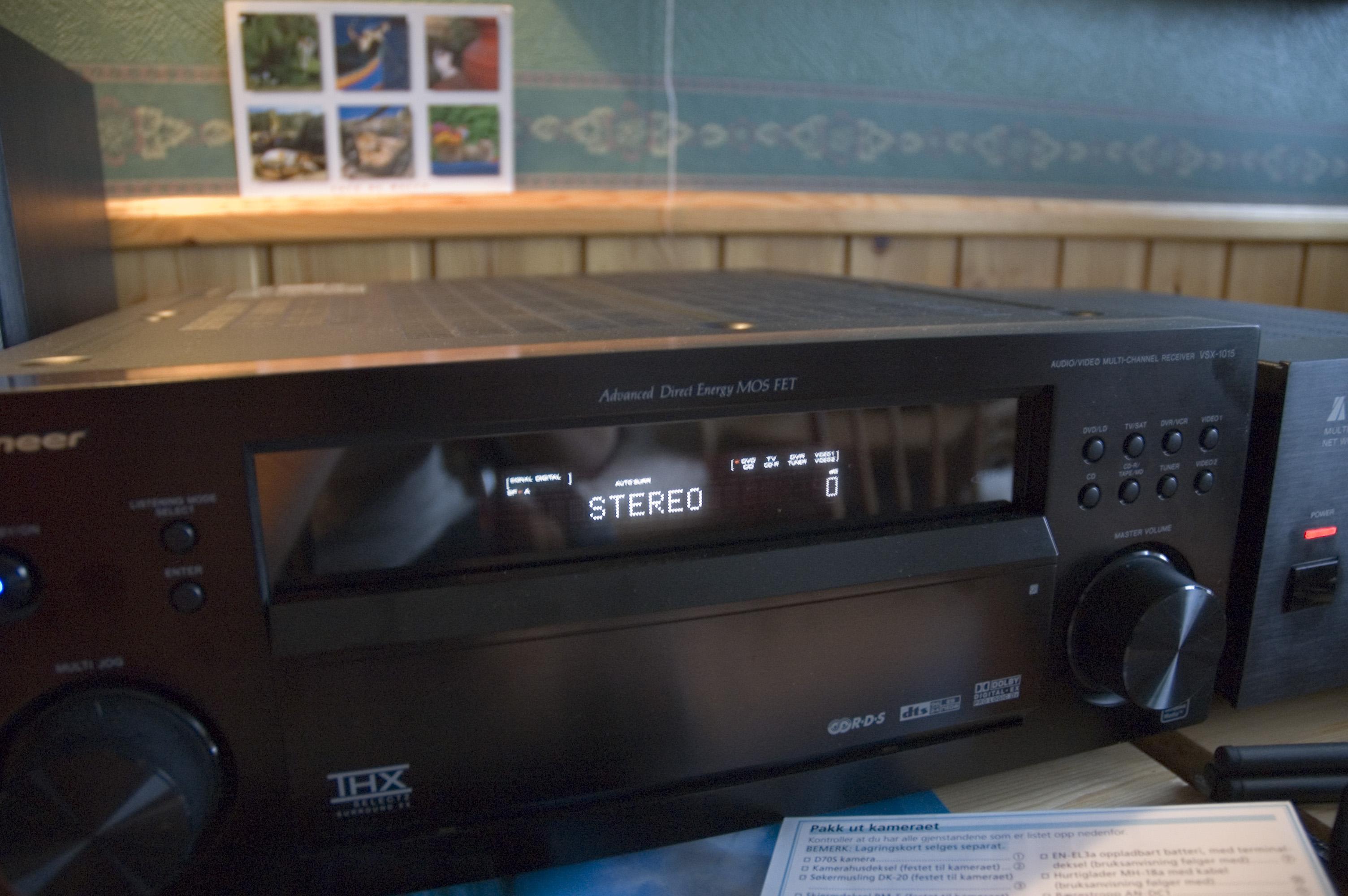 Pioneer VSX-1015 at 0dB