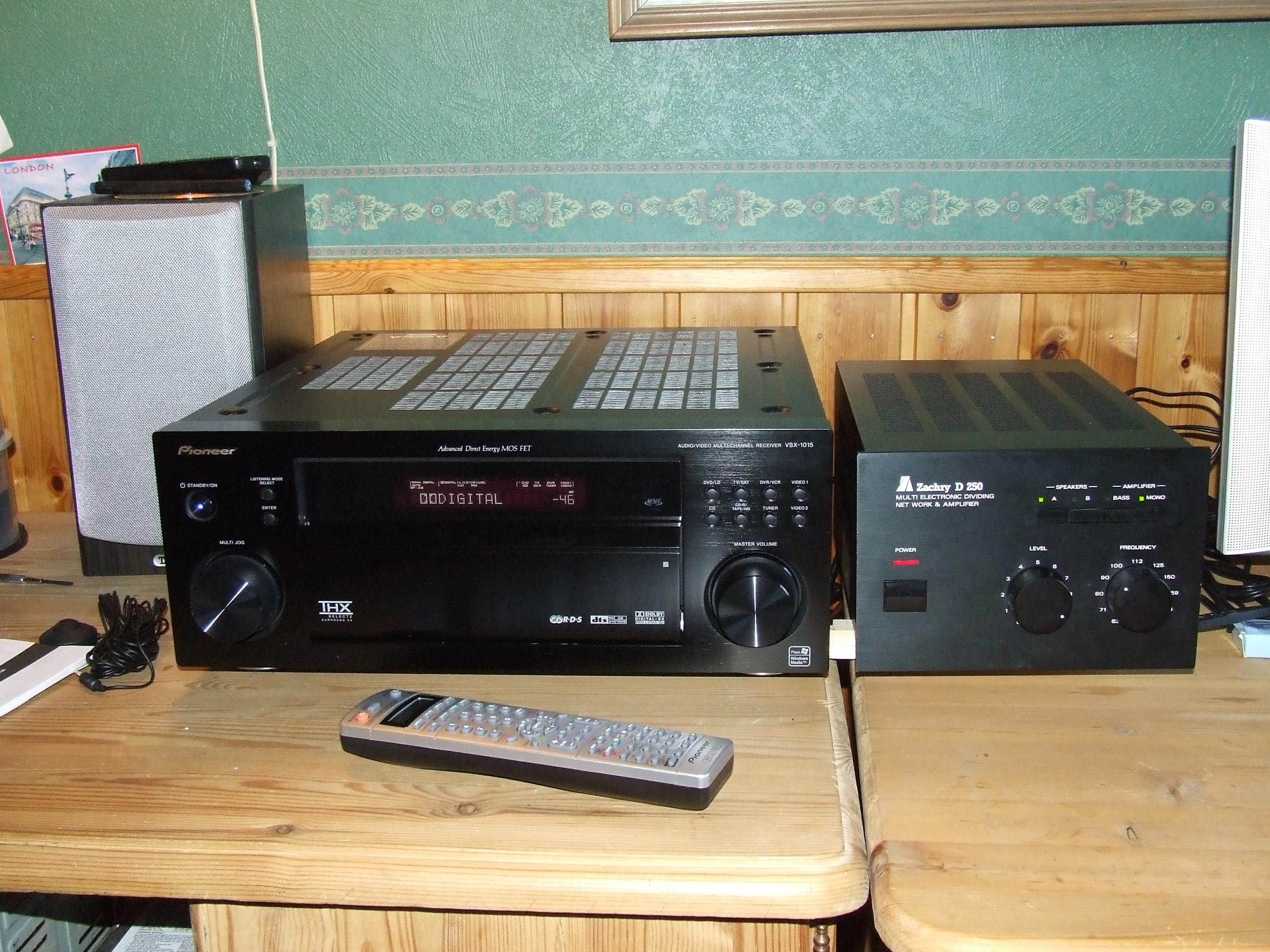 Pioneer VSX-1015 + Zachry D250